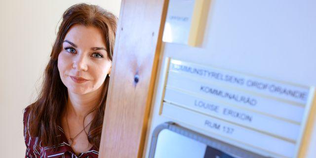 Louise Erixon, SD:s kommunalråd i Sölvesborg.  Johan Nilsson/TT / TT NYHETSBYRÅN