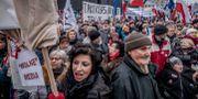 Demonstrationer mot det allt hårdare styret i Polen 2016. Magnus Hjalmarson Neideman/SvD/TT / TT NYHETSBYRÅN