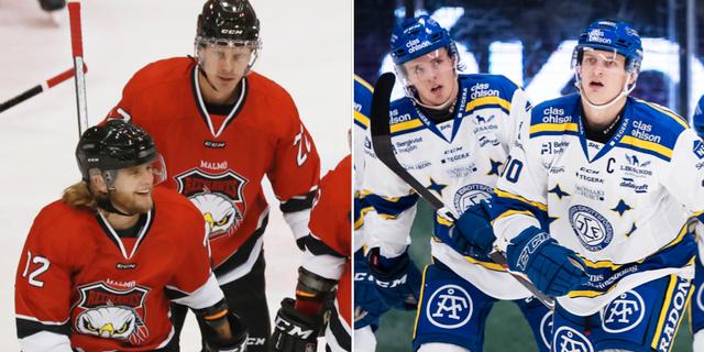 Malmö och Leksand under tidigare matcher. TT