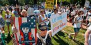 Demonstration mot familjeseparationerna. Alex Brandon / TT / NTB Scanpix