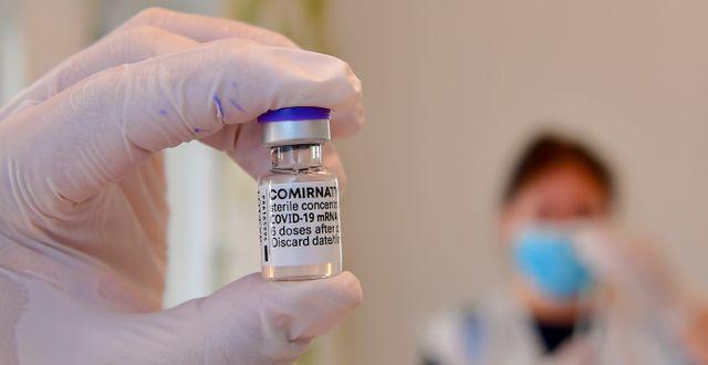 Vaccin mot covid-19. Jonas Ekströmer/TT / TT NYHETSBYRÅN