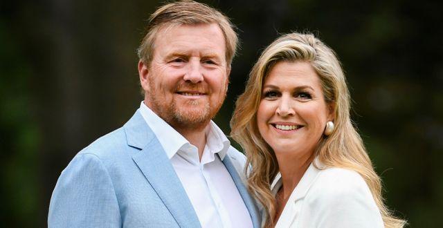Nederländernas kung Willem-Alexander och drottning Máxima. Piroschka van de Wouw / TT NYHETSBYRÅN