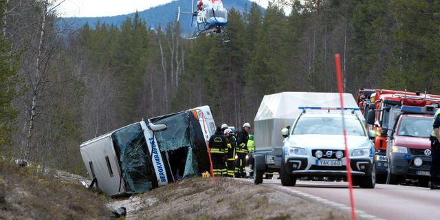 Bild från olyckan. TT NEWS AGENCY / TT NYHETSBYRÅN