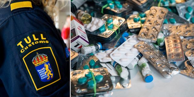 Illustrationsbilder från tullen. Droger misstänks ha smugglats in i Sverige, mestadels över Öresundsbron och på olika färjelinjer. TT
