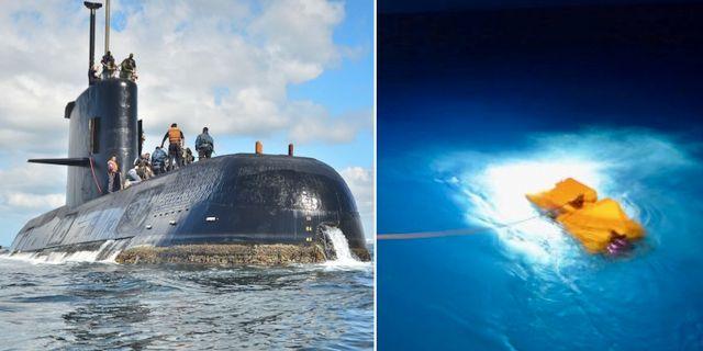 Ubåten San Juan. Arkivfoto från tidigare sökningar efter ubåten. TT