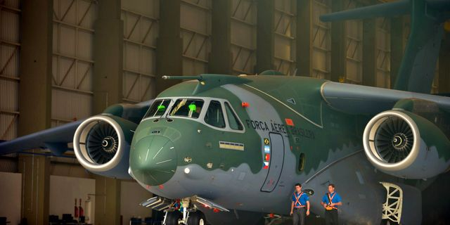 KC-390 Embraer Pressbild/Brasiliens försvarsdepartement/Tereza Sobreira
