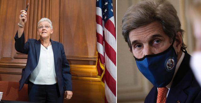 Gina McCarthy och John Kerry.  TT