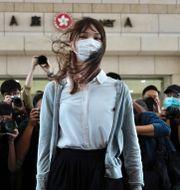 Agnes Chow när hon anlände till domstolen i Hongkong i november Vincent Yu / TT NYHETSBYRÅN