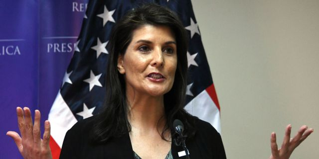 Nikki Haley.  ORLANDO SIERRA / AFP