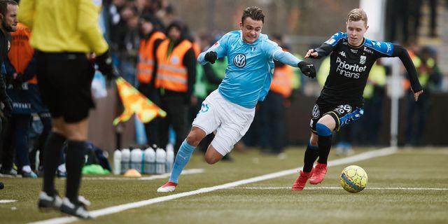 Malmös Andreas Vindheim och Göteborgs Victor Wernersson under kvartsfinalen. Andreas Hillergren/TT / TT NYHETSBYRÅN