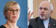 Utrikesminister Margot Wallström och Irans utrikesminister Javad Zarif TT