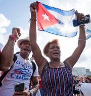 Demonstrationer på Kuba.  Wilfredo Lee / TT NYHETSBYRÅN