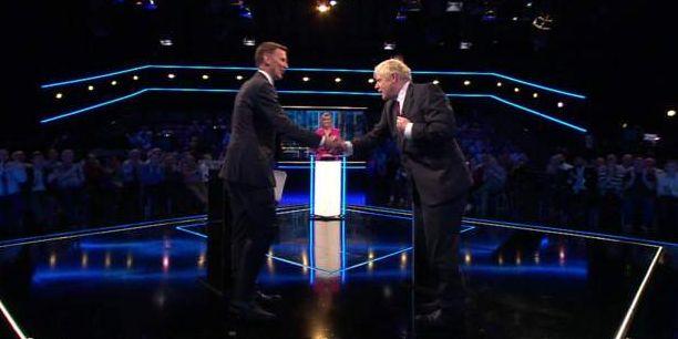 Boris Johnsons och Jeremy Hunt i tv-debatt Skärmdump från ITV