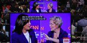 Tv-sändningen av debatten i veckan. CHIP SOMODEVILLA / GETTY IMAGES NORTH AMERICA