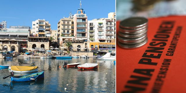 Skandalbolaget Falcon Funds var registrerat i Valetta på Malta. Arkivbilder. TT