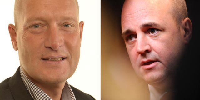 Hans Hoff och Fredrik Reinfeldt.  Riksdagen och TT