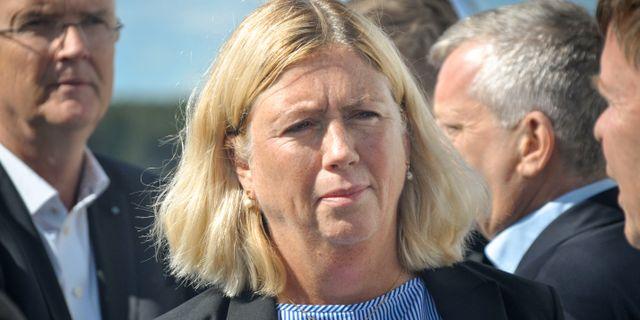 Svenska kraftnäts generaldirektör Ulla Sandborgh GUSTAV SJÖHOLM/TT / TT NYHETSBYRÅN