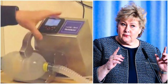 En av den sorten maskiner som köpts in/Erna Solberg Regeringen.no/TT