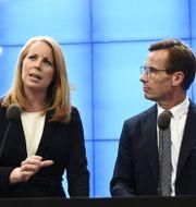 Annie Lööf och Ulf Kristersson  Henrik Montgomery/TT / TT NYHETSBYRÅN