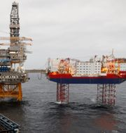 Arkivbild: Equinors oljeplattform i oljefältet Johan Sverdrup. Ints Kalnins / TT NYHETSBYRÅN