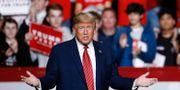 Donald Trump på nattens möte. Patrick Semansky / TT NYHETSBYRÅN