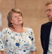 Ulla Andersson och Jakob Forssmed. Stina Stjernkvist/TT / TT NYHETSBYRÅN