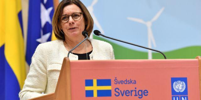 Isabella Lövin. Jonas Ekströmer/TT / TT NYHETSBYRÅN