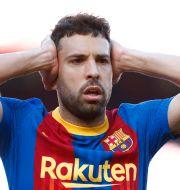 FC Barcelonas Jordi Alba. Joan Monfort / TT NYHETSBYRÅN