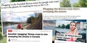 Plogging får rubriker i flera tidningar. Skärmdumpar/TT, Montage: Omni