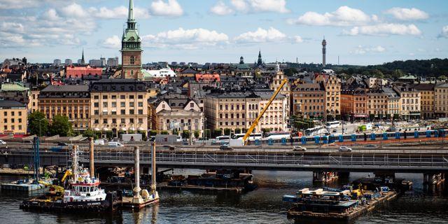 Underhållsarbete vid tågspåret i centrala Stockholm. Erik Simander/TT / TT NYHETSBYRÅN