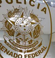 Brasiliansk polisstation. Arkivbild. Eraldo Peres / TT / NTB Scanpix