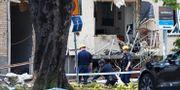 Bild från explosionen i Linköping.  Jeppe Gustafsson/TT / TT NYHETSBYRÅN
