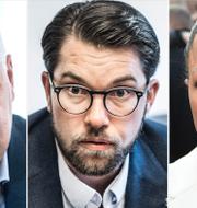 Jonas Sjöstedt, Jimmie Åkesson, Alice Bah Kuhnke. T