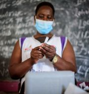 Vaccination i Kampala, Uganda Nicholas Bamulanzeki / TT NYHETSBYRÅN