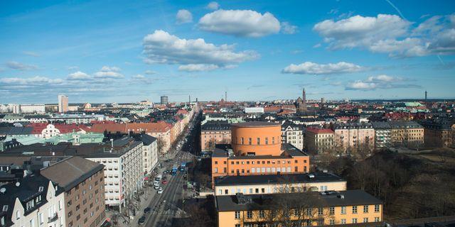 Översiktsbild över Stadsbiblioteket vid Odenplan. Fredrik Sandberg/TT / TT NYHETSBYRÅN