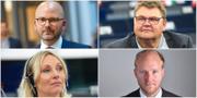 De fyra SD-politikerna. TT