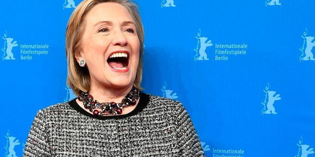 Hillary Clinton på filmfestivalen i Berlin. Jens Kalaene / TT NYHETSBYRÅN