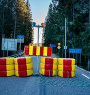 Gränsen mellan Norge och Sverige, vid norska Halden. Torstein Bøe / TT NYHETSBYRÅN