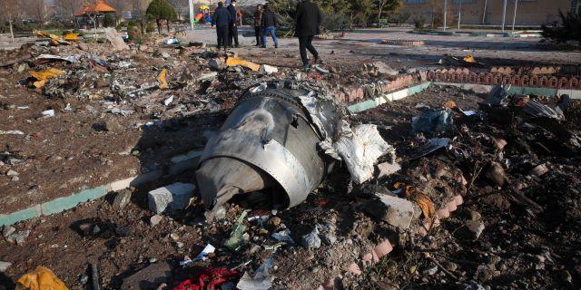 Planet sköts ner den 8 januari utanför Teheran. - / AFP