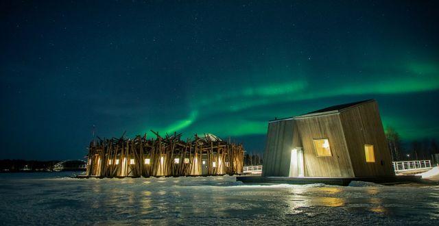 Norrsken är ett av dragplåstren på vintern. Johan Jansson