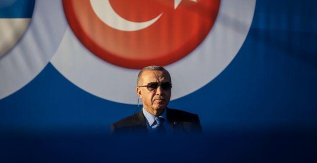 President Erdogan.  OLIVER BUNIC / AFP