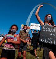 St. Louis. Demonstration för jämlikhet och mot rasism. Robert Cohen / TT NYHETSBYRÅN