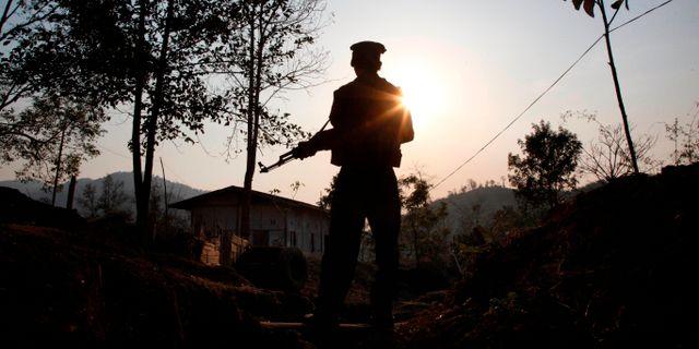 Norra Myanmar, en soldat från Kachin Independence army. Esther Htusan / TT NYHETSBYRÅN/ NTB Scanpix