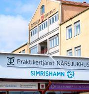 Capio Vårdcentral, Folktandvården och Praktikertjänst Närsjukhus i samma byggnad i Simrishamn. Johan Nilsson/TT / TT NYHETSBYRÅN