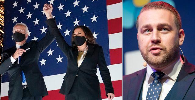 Joe Biden och Kamala Harris/Mattias Karlsson. TT