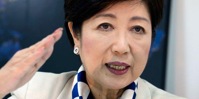 Arkivbild: Tokyoguvernören Yuriko Koike har sagt att hon inte tänker ställa upp som kandidat i parlamentsvalet, men hon leder för närvarande det nystartade partiet Party of Hope.  Koji Sasahara / TT / NTB Scanpix