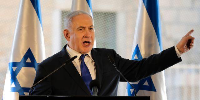 Israels premiärminister Benjamin Netanyahu Tsafrir Abayov / TT NYHETSBYRÅN