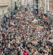 Black lives matter-demonstration i Köpenhamn. Nikolai Linares / TT NYHETSBYRÅN