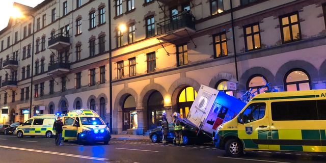 Tre skadade i olycka i ange