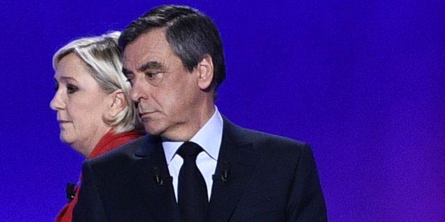Le Pen och Fillon. MARTIN BUREAU / POOL